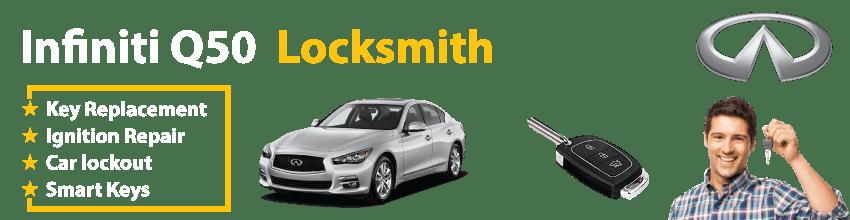 Infiniti Q50 Car Key Replacement 24/7 - Okey DoKey Locksmith