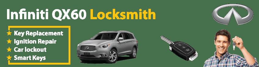 Infiniti QX60 Car Key Replacement 24/7 - Okey DoKey Locksmith